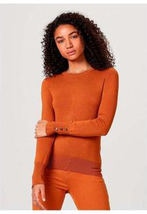 Blusão Feminino Em Tricô Com Elastano E Botões Met