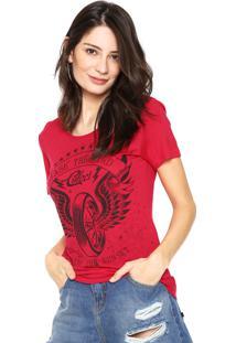 Camiseta Colcci Slim Rosa