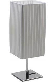 Abajur Quadrado Light 43Cm Bivolt Branco