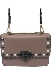 Bolsa Casual Transversal Alça Corrente Sys Fashion 8305 Rosa