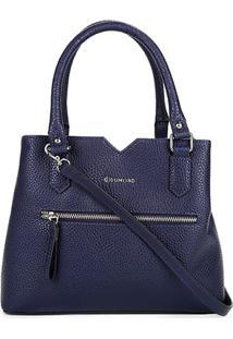 Bolsa Capodarte Handbag Média Relax Feminina - Feminino-Azul