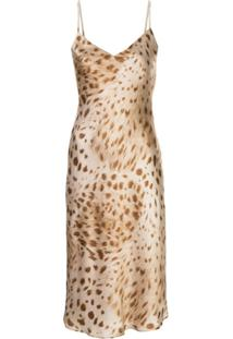 L'Agence Slip Dress Com Estampa De Leopardo - Neutro