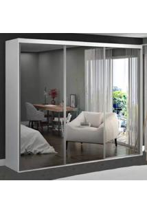Guarda-Roupa Casal 3 Portas De Espelho 100% Mdf 1973E3 Branco Tx - Foscarini