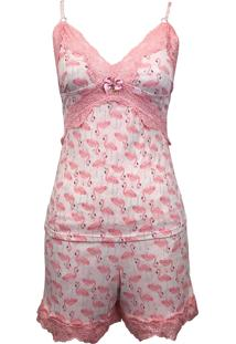 Baby Doll Izabella Lingerie Flamingo Rosa