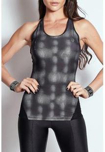 Regata Colcci Fitness Estampada Detalhe Tule 03857 - Feminino