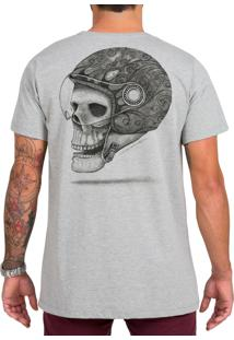 Camiseta Urza Skull Rider Mescla Cinza