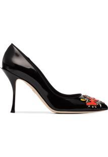 Dolce & Gabbana Scarpin 'Wow' De Couro - Preto