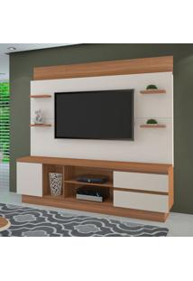 Estante Para Home Theater E Tv Até 60 Polegadas Buran Naturale E Off White