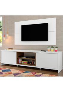Rack Madesa Metz E Painel Para Tv Atã© 55 Polegadas Branco - Branco - Dafiti