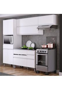 Cozinha Compacta Em L Sem Balcão 7 Portas Belíssima Plus Branco- Itatiaia