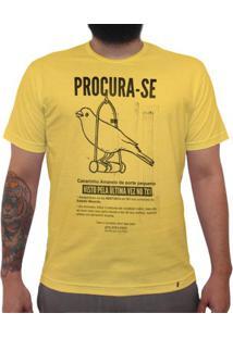 Procura-Se Canarinho - Camiseta Clássica Masculina