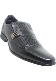 Sapato Social Pegada Abrasinato Masculino - Masculino-Preto