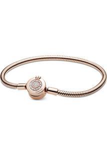 Bracelete Coroa Em O Brilhante Pandora Rose™