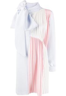 Atu Body Couture Vestido Assimétrico Plissado - Rosa