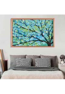 Quadro Love Decor Com Moldura Árvore Painted Rose Metalizado Grande