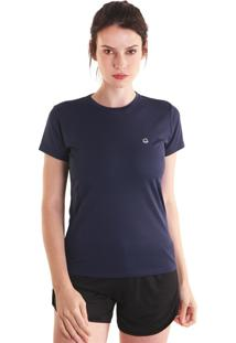 Camiseta Liquido Basic Fit Girls - Azul Marinho M