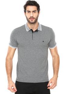 Camisa Polo Malwee Reta Padronagem Cinza