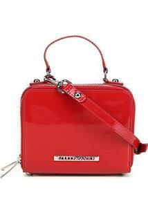 Bolsa Loucos & Santos Clutch Doctor Bag Verniz Feminina - Feminino-Vermelho