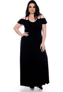 51e02eda7b Vestido Longo Plus Size feminino