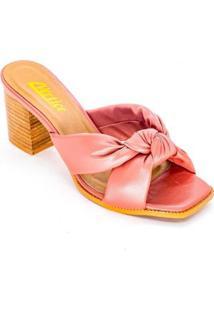 Tamanco Mule Tiras Conforto Soft Pink Tamanho:34 Vértice - Feminino