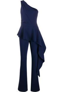 Le Petite Robe Di Chiara Boni Macacão Ombro Único Com Acabamento De Babados - Azul