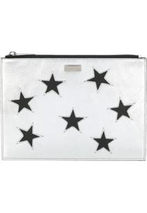 Stella Mccartney Clutch 'Star' Metálica - Metálico