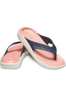 bc2b8822b3 ... Chinelo Crocs Literide Flip Feminino - Feminino-Azul+Rosa