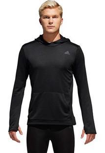Blusa Adidas Response Capuz Masculina - Masculino-Preto