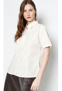 Camisa Com Linho- Bege Clarojavali