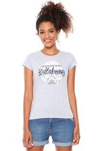 Camiseta Billabong Girls Gipsy Girl Cinza