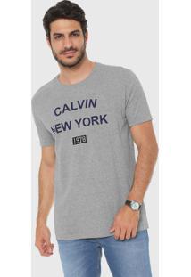 58f629680 Camiseta Calvin Klein Cinza masculina | Moda Sem Censura