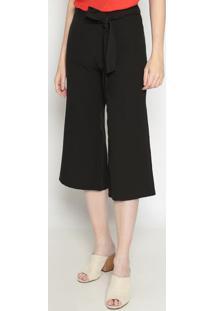 Calça Pantalona Lisa- Preta- Operateoperate