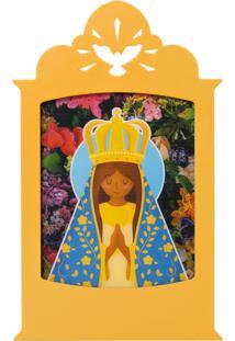 Luminária Carambola Nossa Senhora Aparecida Amarela