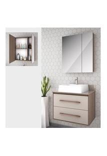 Gabinete Para Banheiro Suspenso 65Cm 2 G