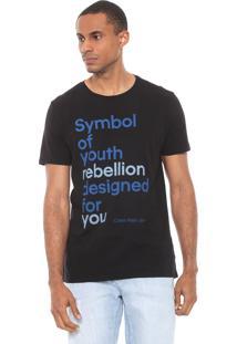 Camiseta Calvin Klein Jeans Symbol Of Youth Preta
