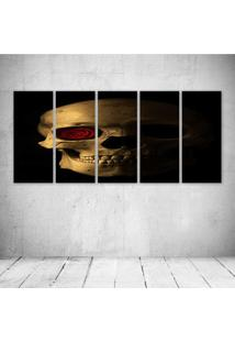 Quadro Decorativo - Skull454 - Composto De 5 Quadros - Multicolorido - Dafiti