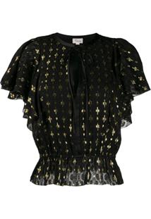 Temperley London Blusa Sukie - Preto