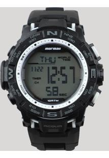 5cfa2d86579 CEA. Relógio Preto Masculino Mormaii Silicone Digital Único ...
