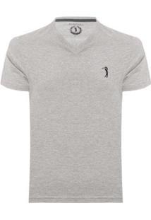 Camiseta Aleatory Lisa 1/2 Malha Gola V Masculina - Masculino