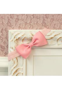 Faixa Laço Farfalle Rosa