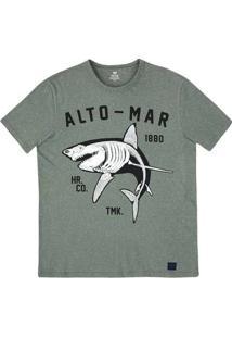Camiseta Masculina Manga Curta Slim Em Malha Botonê