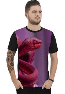 Camiseta Ramavi Snake Manga Curta Preto
