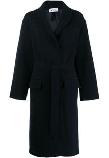 Barena Trench Coat Com Cinto - Azul