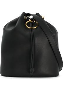 Marni Drawstring Bucket Bag - Preto