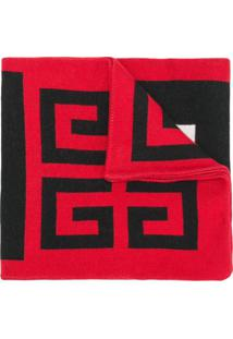 Givenchy Cachecol Com Logo Bordado - Vermelho
