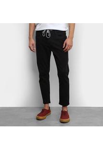 Calça Jeans Colcci John Cropped Masculina - Masculino-Preto