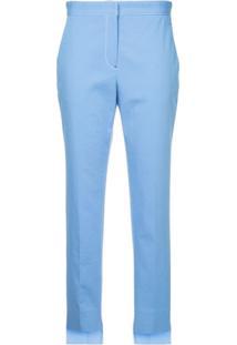 Rosetta Getty Contrast Stitch Tapered Trousers - Azul