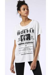 Camiseta Diesel T-Hanna-Af - Feminino-Branco