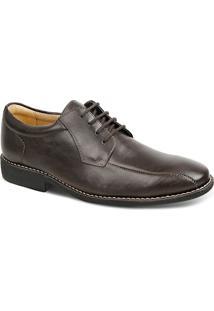 Sapato Social Masculino Derby Sandro Moscoloni Juarez Marrom Escuro
