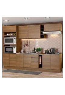 Cozinha Completa Madesa Stella 290001 Com Armário E Balcão Rustic Cor:Rustic